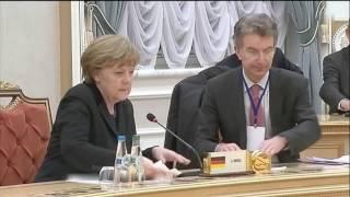 Путин - Порошенко. Самое короткое рукопожатие. Встреча в Минске
