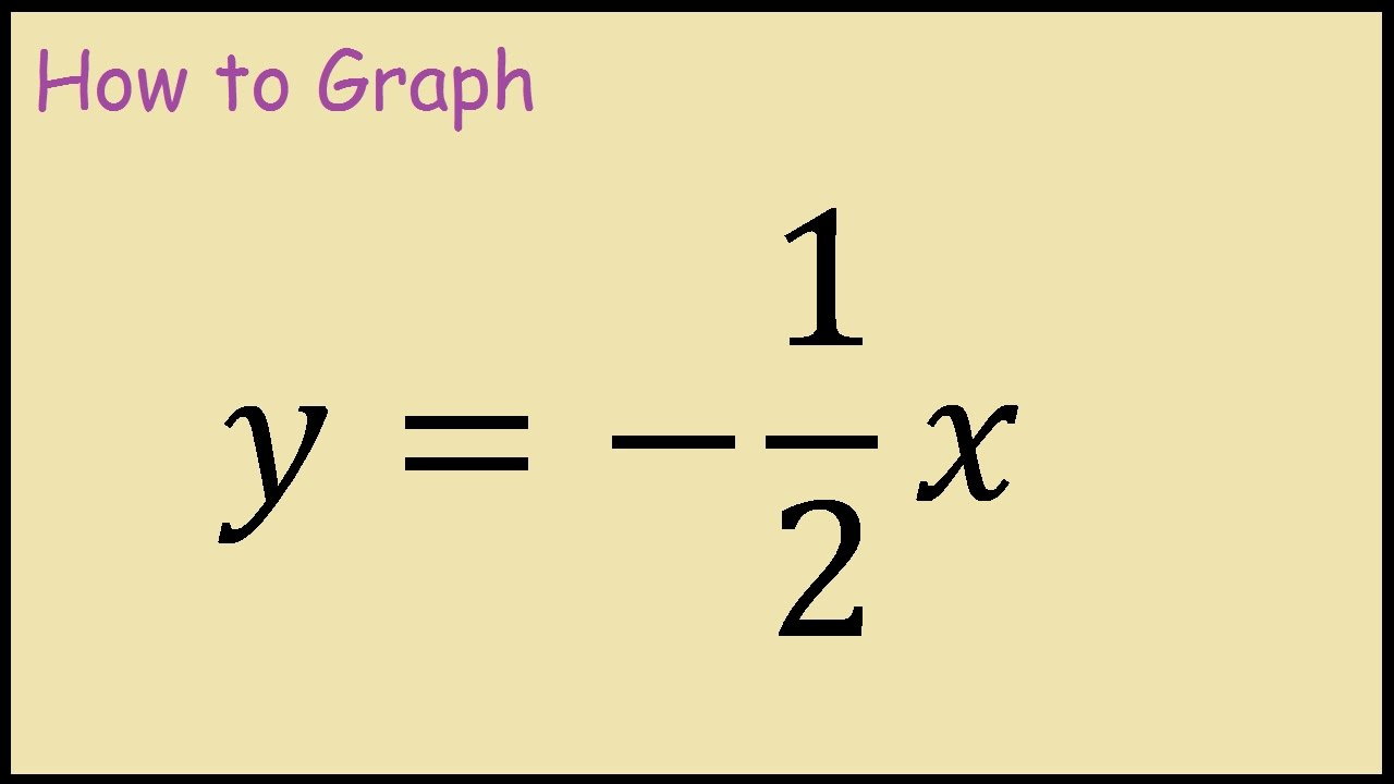 how to graph y 1 2x youtube