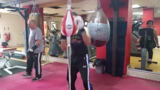 Boxing ball punching