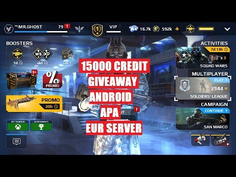 LIVE #102, mc5- 15,000 credit giveaway, android, apa and eur server, SB EUR