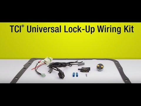 tci 200-4r / 700r4 torque converter lockup kit universal transmission lock  up tutorial overview