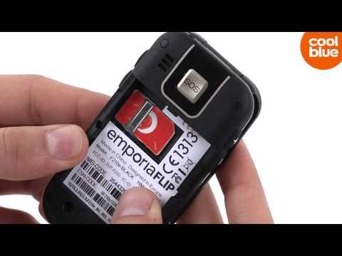 Hoe plaats ik mijn SIM kaart in de Emporia F210?