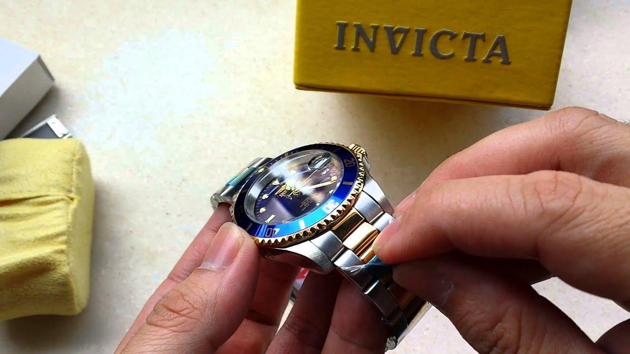 9fb054382f2 Relógio Invicta Pro diver coroa de Rosca Ref 8928OB Misto Aço e ouro ...
