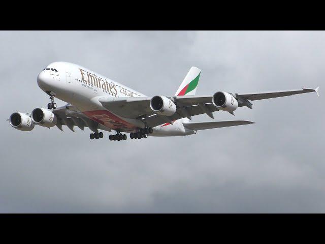 [4K] Emirates A380 Landing & Takeoff at Glasgow Airport Summer 2019