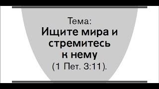 """Свидетели Иеговы.Jehovah's witnesses.Обзор конгресса """"Ищите мира и стремитесь к нему""""."""
