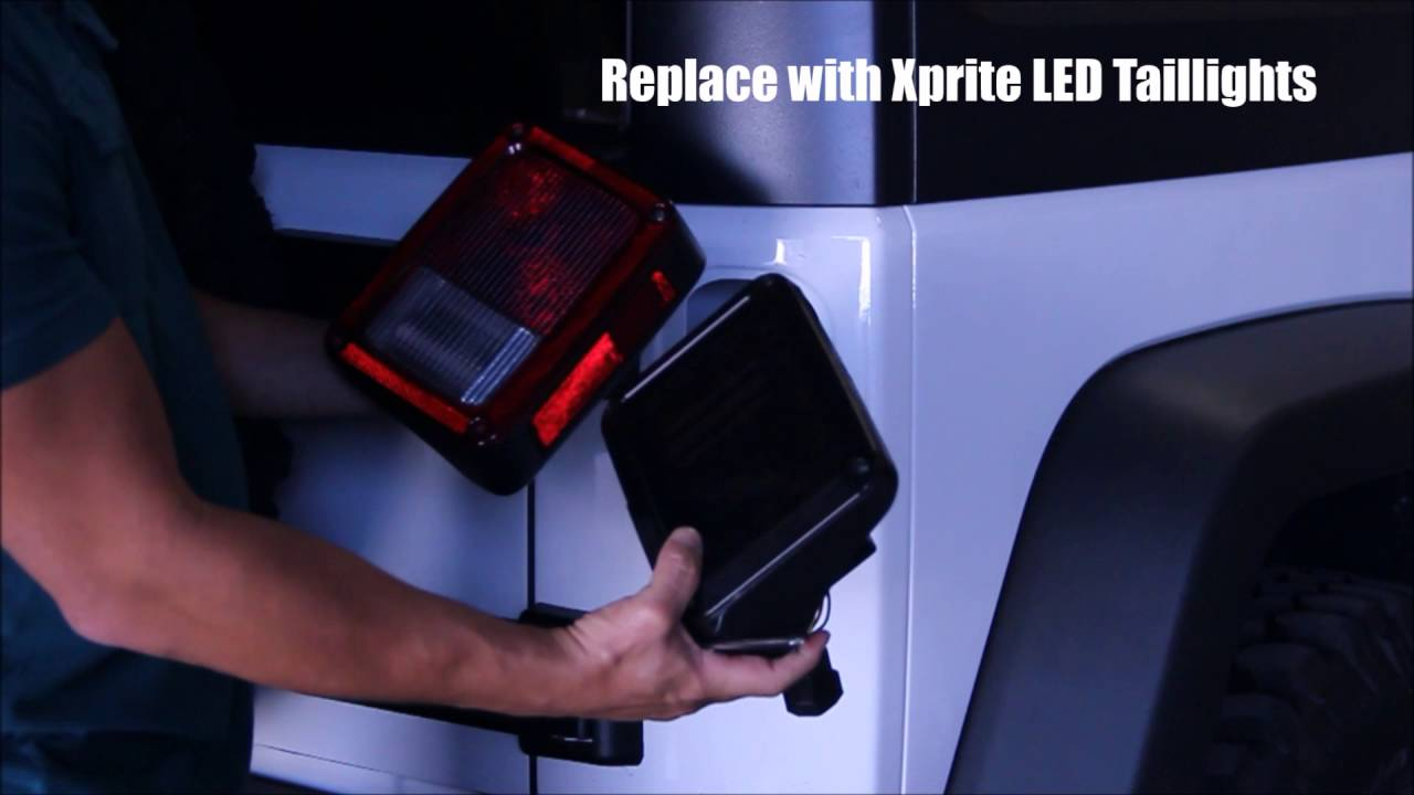 Xprite LED Taillight Installation for 2007 - 2016 Jeep Wrangler JK on