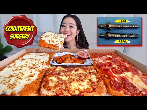 FIRST TIME GIANT PIZZA HUT! (Pizza + Wings Big Dinner Box Mukbang 먹방) Eating Show