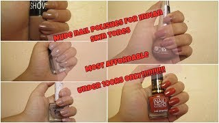 Indian Nude nail polishes swatches | Under 100rs | Most affordable nude nail paints