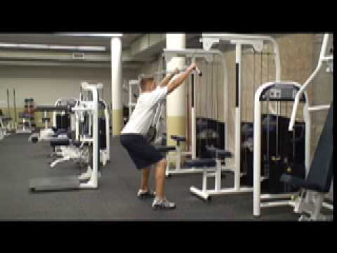Standing Lat Pulldown Youtube