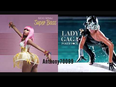 Lady Gaga vs Nicki Minaj  Poker Face vs Super Bass Mashup