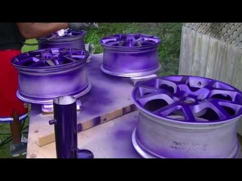 Custom painted SER rims