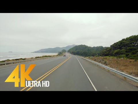 4K Scenic Drive - US Route 101, Pacific Coast, Oregon - 3 Hour Of Road Drive With Relaxing Music