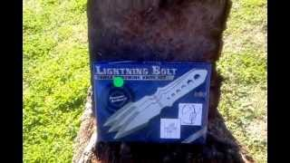 Lightning Bolt Triple Throwing Knife Set