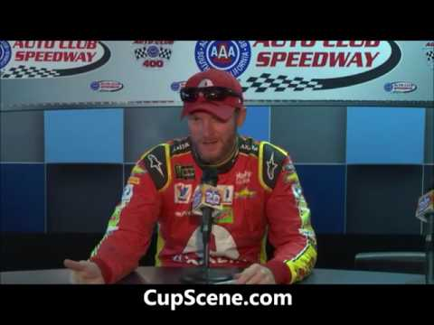 NASCAR at Auto Club Speedway, March 2017:  Dale Earnhardt Jr. pre-race