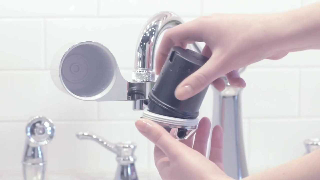 How to Install a Culligan Faucet Mount Filter - YouTube