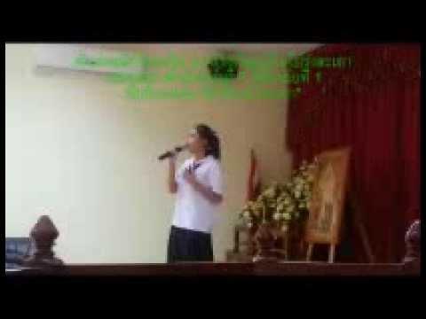 ตัวแทนนักเรียนขับร้องเพลงลูกทุ่ง ของ สพป.ปราจีนบุรี เขต 2