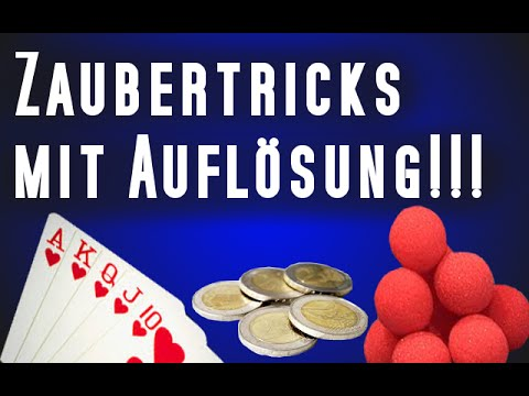 coole magische zaubertricks mit aufl sung magictricks revealed zaubertricks zum nachmachen. Black Bedroom Furniture Sets. Home Design Ideas
