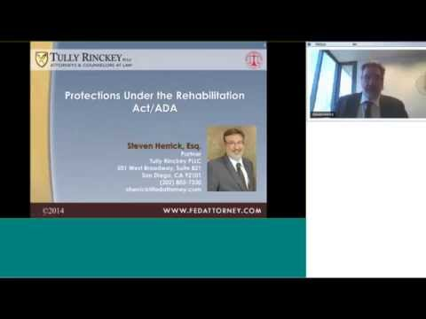 FEW Legal Update - Protections Under the Rehabilition Act/ADA - Federal Employment Law