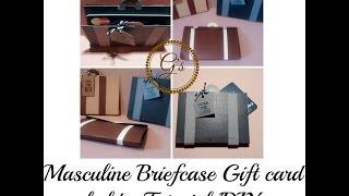 DIY/Tutorial Masculine Briefcase Gift Card Holder