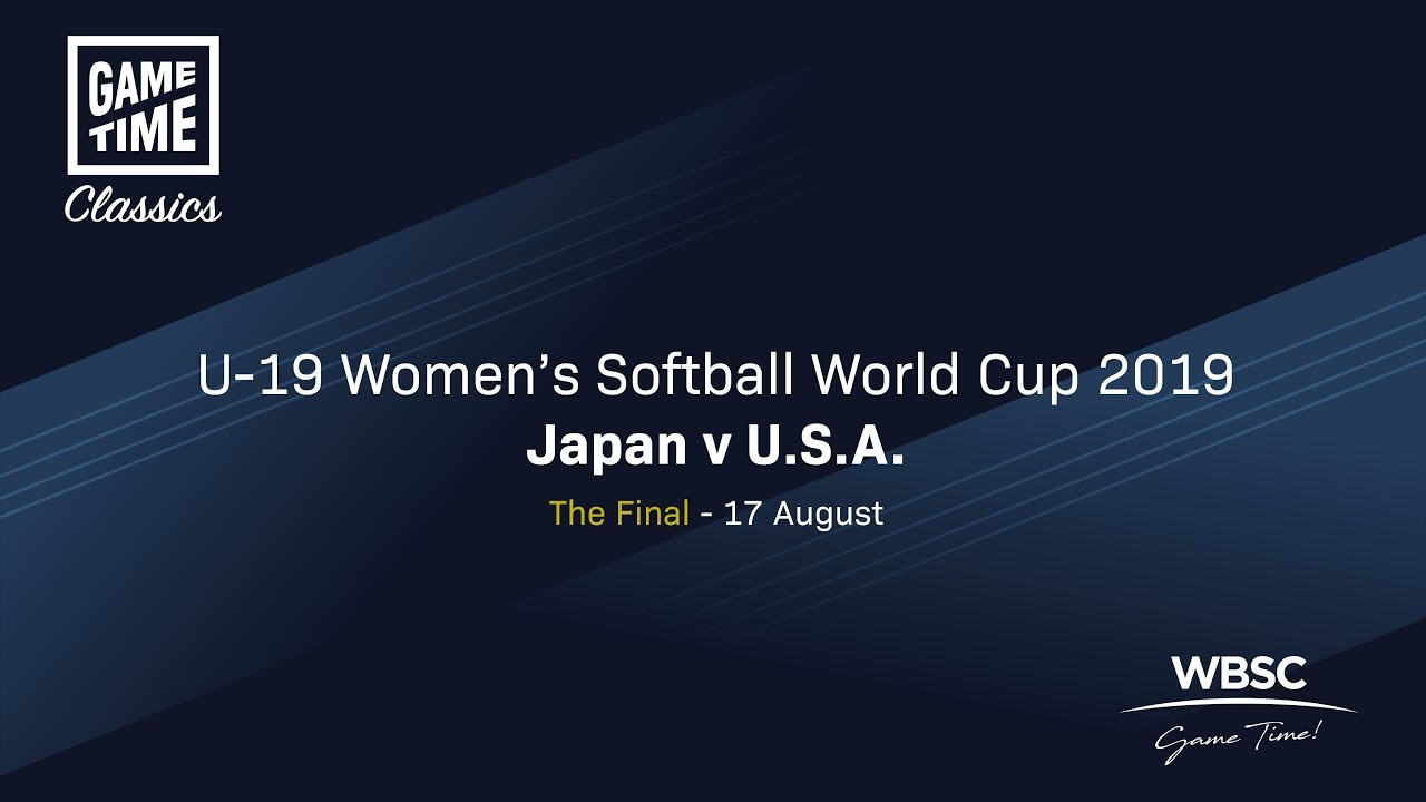 Japan v USA - The Final - U-19 Women's Softball World Cup 2019