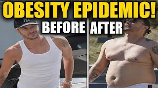 Celebrities That Let ThemSelves Go (BEFORE & AFTER FAT GAIN)