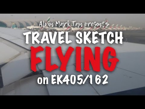 Sketching on Emirates with Alvin Mark