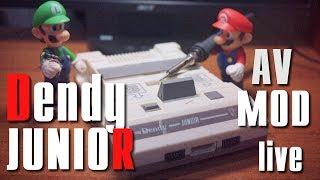 Нуборемонт Dendy Junior /сборка видеоусилителя, AV mod