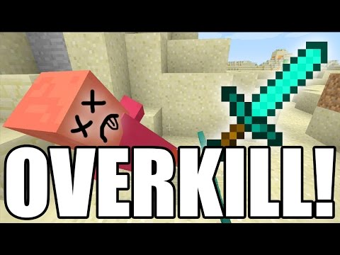 Overkill EASY! Achievement Trophy Guide Minecraft