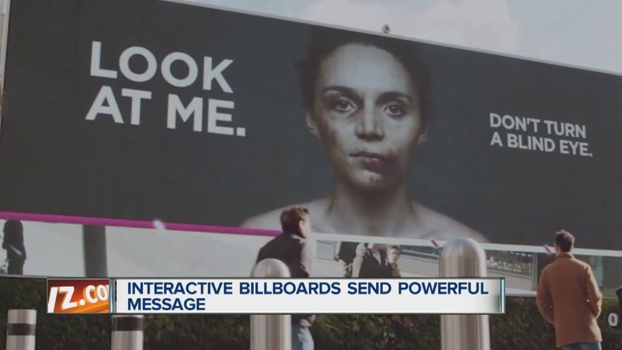 New Billboard Ad Confronts Domestic Violence Youtube