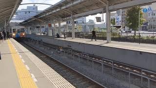 JR四国アンパンマントロッコ四国一周号高松 高松駅発車