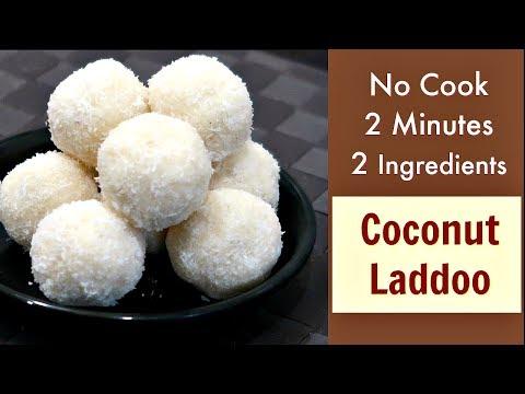 2 minute में बनाए नारियल का लड्डू – Coconut Ladoo Recipe – No Fire Recipe – KabitasKitchen