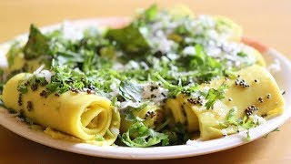 बेसन खान्ड़वी सही तरह से घर पर 7 मिनिट में कैसे बनाये||Tips of Khandvi Snacks||Gujarati Khandvi