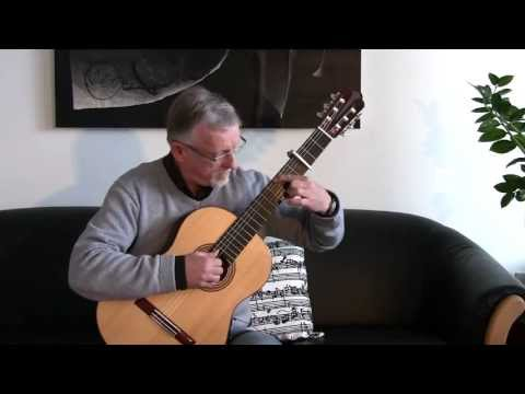 J. S. Bach: Siciliano BWV 1001 for solo violin played on guitar