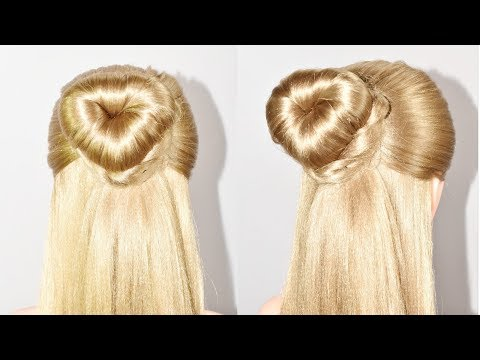 Love bun for valentines day |  Valentines Day Hairstyle | hair style girl | easy hairstyles