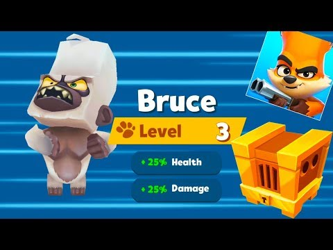 Zooba: Zoo Battle Arena - Gameplay Walkthrough Part 3 - Bruce Character in Battle (Android Games) - 동영상