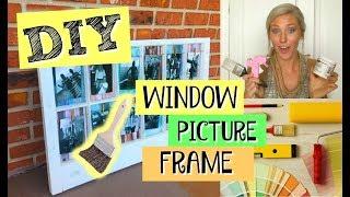 DIY | Vintage Window PICTURE FRAME