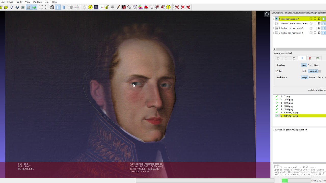 The true face of Vincenzo Bellini reconstructed by researchers of  University of Catania