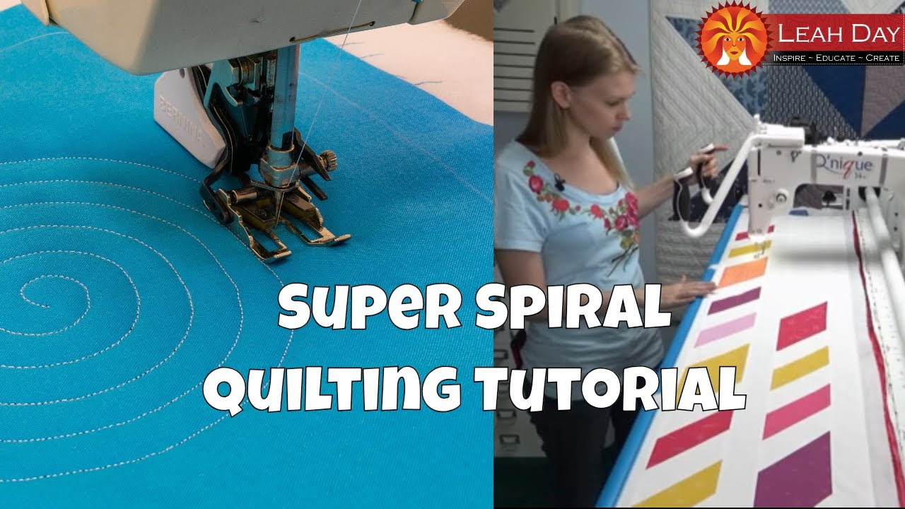 How To Quilt Super Spiral With Walking Foot And Longarm Quilting
