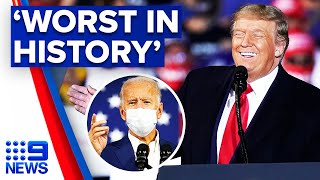 Trump says Biden is 'worst presidential candidate in history' | 2020 US Election | 9 News Australia