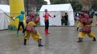 (fhd) Power Rangers Samurai / シンケンジャー 20091122 Goro@welsh Corgi