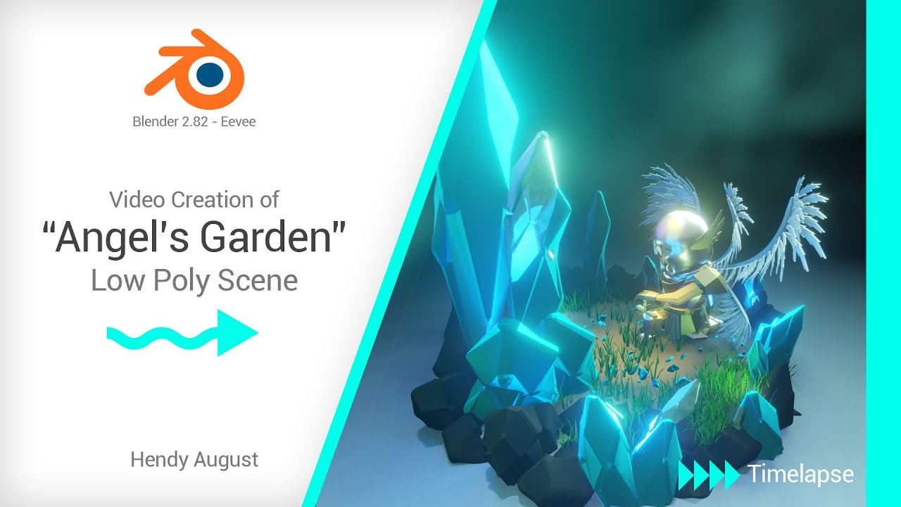 Angels Garden 3D scene. | Blender 2.8 | Eevee