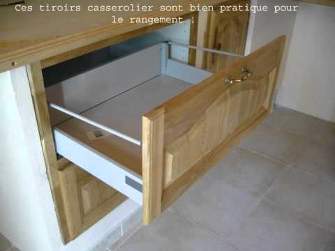 Cr ation d 39 une cuisine int gr e youtube - Cuisine avec table integree ...
