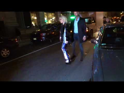 Lady Gaga and Christian Carino arrive back at their hotel in New York City
