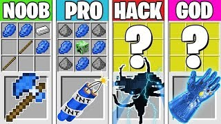 Minecraft Battle: LAPIS LAZULI CRAFTING! NOOB vs PRO vs HACKER vs GOD in Minecraft Animation