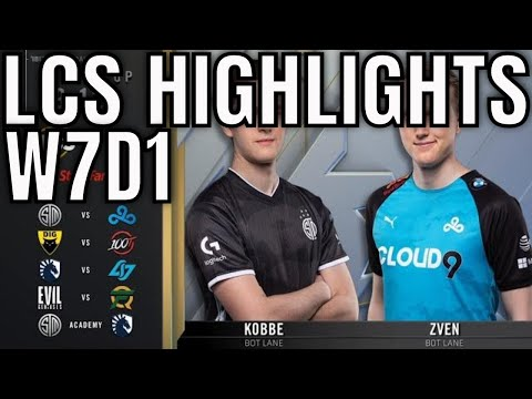 LCS Highlights ALL GAMES Week 7 Day 1 Spring 2020 League of Legends Championship Series