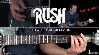 Rush - Freewill Guitar Lesson