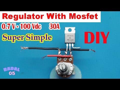 Mosfet Voltage Regulator Ide Kreatif DIY Sederhana Rangkaian Penurun Tegangan 24V, 12V, 5V, 3.3V