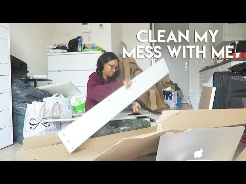 TIMELAPSE — Unpack, Clean + Make Furniture With Me | MESSY ROOM