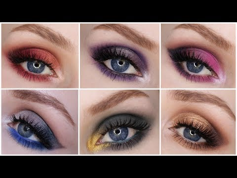 6 TUTORIALS IN 1 VIDEO! NEW MARC JACOBS EYESHADOW PALETTES + Swatches & Review