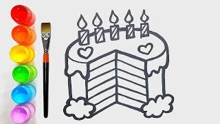 How to Draw Cake | Drawing and Coloring for Kids | Merry Toy Art ♡